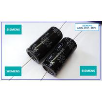 1x Capacitor Eletrolítico Axial 47uf X 350v Siemens