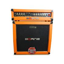 Cabeçote Borne Gladiator 1200 + Caixa 100w Rms Cor Orange