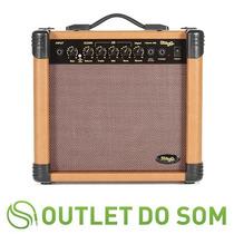 Amplificador Para Violão Eletrico Stagg - Aa15dr/15w/reverb