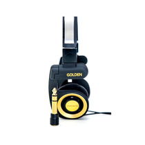 Fone Mr. Mix Golden Original Retorno De Palco Headphone Dj