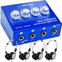 Sjuro Arcano Retorno Palco Amp De Fones Hae-4-studio+4 Fones