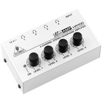 Powerplay Amplificador Ha400 Behringer Branco De Fones De Ou
