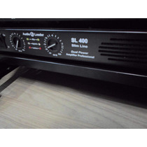 Amplificador Slim Potência Audio Leader 400 Watts Rms - Top!