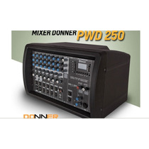 Mixer Amplificado Donner Pwd 250 W 7 Canais Fm Usb Bluetooth