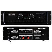Amplificador Potência Profissional Stéreo Mk6200 1200 Watts