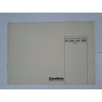 Manual Original Amplificador Gradiente Model 246.366