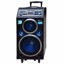 Caixa Som Amplificada Portatil Karaoke Usb Sd 200w Lenoxx