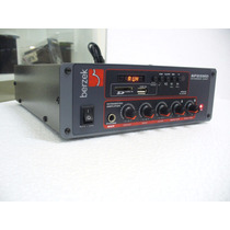 Amplificador E Player Mp3,controle Remoto, 200wrms Berzek