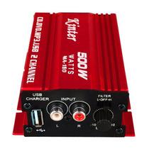 Modulo Amplificador 2 Canais Carro Barco Moto Som Musica