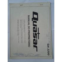 Manual Original Quasar Amplificador Qa 2200