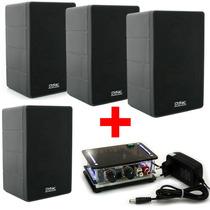 Kit Som Ambiente Amplificador Para Pc Estéreo Caixa Acústica