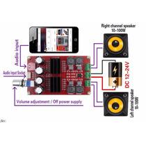 Amplificador Digital Estéreo 200 Watts Rms
