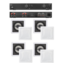 Amplificador Loud Apl 450 Loud + 4 Caixas Gesso Sq6-100