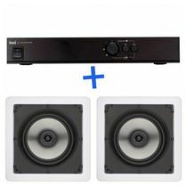 1 Amplificador Apl 250 + 2 Caixa De Som Embutida Loud Sq5 50