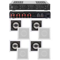 Amplificador Apl 850 Loud + 4 Pares De Caixa Sq6 100