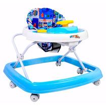 Andador Musical Azul Com Inmetro E Regulagem De Altura