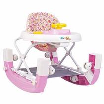 Andador Infantil 8 Rodas E Balanço Styll Baby Rosa Inmetro
