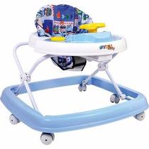 Andador Styll Baby Musical Azul Infantil Regulavel 6 Rodas