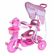 Carrinho Bebê Triciclo Capota Empurrar Pedalar Com Musica