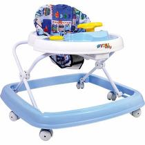 Andador Regulável 6 Rodas Infantil Bebê Azul - Styll Baby