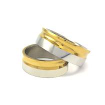 Anel Aliança 8mm Compromisso Noivado Casamento Aço Inox 316l