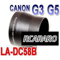 Tubo Adaptador 58mm Para Canon Para Powershot G3, G5, G6
