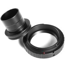 Anel T2 Canon Eos + Tubo 1.25 Para Telescópios Ef