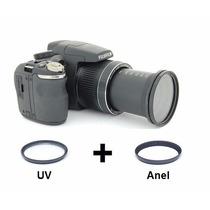 Kit Anel Adaptador + Uv Fuji Sl260 Sl300 Filtro / Lente 58mm