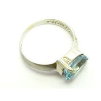 Joianete A9417-06865 Anel Ouro18k Branco Topázio E Diamante