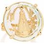 Anel Nossa Senhora Aparecida Com Cristal De 25mm . Rommanel