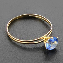 Nelcy Joias Ecia Anel Calice Ouro 18k C/ Pedra Natural 5mm