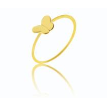 .lindo Anel Borboleta! Ouro Amarelo 18k 750,frete Grátis.