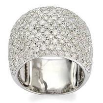 Belo Anel Em Ouro Branco 18 Quilates +diamantes!!!