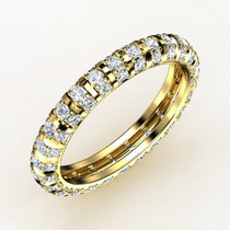 Anel Aliança 68 Brilhantes Ouro Amarelo 18 K!!!!!