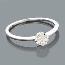 Anel Chuveirinho Em Ouro 18 Quilate E Diamantes