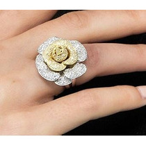 Chiquérrimo Pavê Flor Em Ouro 18 Quilate E Diamantes