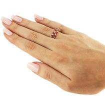 Anel Em Ouro Amarelo 18k +rubis E Diamantes!!!