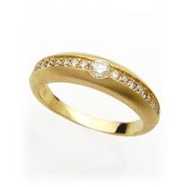 Vivar Meia Aliança Ouro 18 Quilate E Diamantes Essa É A Sua