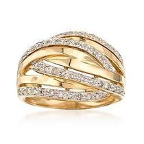 Anel Pavê Em Ouro Amarelo Com 38 Pedras Diamantes !!!!