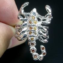 Safira Amarela E Granada-anel De Prata 925-ouro14- Fr Grátis