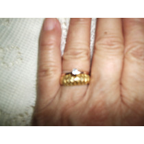 Anel Ouro Aro 16 Pedra Azul