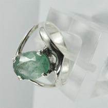 Anel De Esmeralda Natural Em Prata 950 Joia Lindissima!