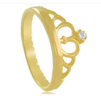 Anel Modelo Pandora Coroa Ouro