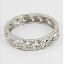 Esfinge Jóias - Anel Aliança Inteira Platina Diamantes Aro14