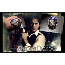 Anel Damon Salvatore The Vampire Diaries Frete Grátis+caixa