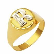 Shop Das Pedras Anel Dedinho Com Letra Em Ouro 18k