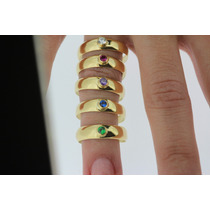Anel Bombe Em Ouro 18k 750