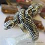 Anel Cobra Bicéfala Em Prata 950k Maciça Ojoalheiro