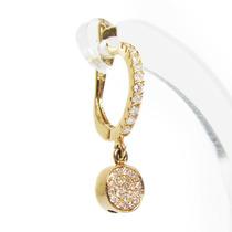 Belo Par De Brincos Em Ouro Amarelo 18k!e Diamantes