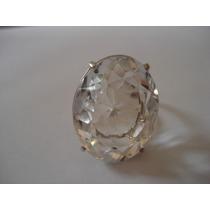 Jfa - Anel Prata 925 Quartzo Cristal Super Limpo !!!